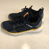 Adidas Mens Shoes TERREX SPEED LD MEN'S HIKING Navy/Gold OUTDOOR Shoes Size 7.5