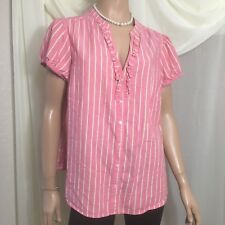 Old Navy Womens Blouse Size 2X Color Desert Rose Short Sleeve (See Photos)