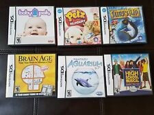 Lot of 6 Nintendo DS Games, Baby Pals, Surfs Up, High School,Petz, All Complete