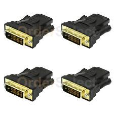 4X NEW DVI M TO HDMI F 1.4 1080p 2160p 4K 3D TV PC MAC HDTV BLUERAY ADAPTER HD