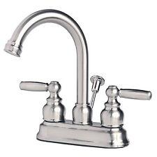 "Contemporary Bathroom Vanity Sink 4"" Centerset Lavatory Faucet Brushed Nickel"