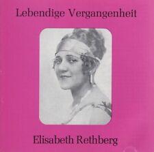 Elisabeth Rethberg - Lebendige Vergangenheit CD Mono Historic Recordings