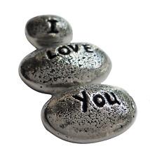 Lot de 'I Love You' pierres - main fabriqué en étain EN CORNWALL