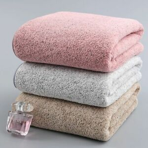 Bath Towel 70x140cm Bamboo Charcoal Coral Velvet Absorbent Microfiber Fabric