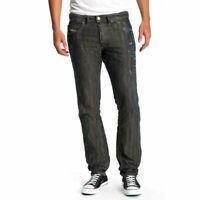 Diesel Herren Regular Slim Fit Leinen Jeans Hose - Braddom 0660R - W27-W30