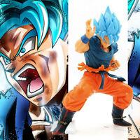 New DBZ Dragon Ball Z Super Saiyan God Son Goku Blue hair Ver. Figure 21cm NoBox
