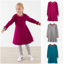 BNWOT Ex Hanna Andersson Rainbow Knit Dresses in French Terry 3-14Yrs