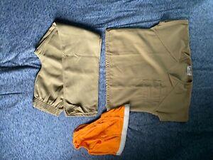 bob barker khaki 2 piece size Small inmate jail prisoner prison uniform