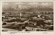 Marrakech La Ville et l'Atlas Real Photo Postcard