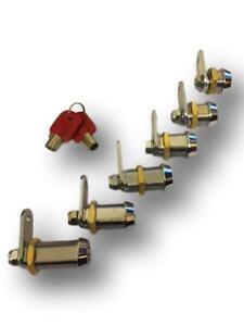 High Security Cam Lock Locker Lock  Radial Key C/W 2 Keys (EXTRA KEYS AVAILABLE)