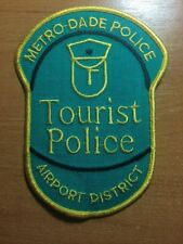 POLICE PATCH METRO DADE AIRPORT DISTRICT TOURIST FLORIDA FL STATE