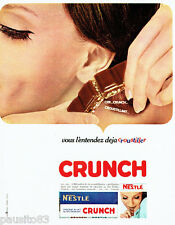 PUBLICITE ADVERTISING 076  1966  le chocolat au lait & riz Crunch Nestlé