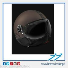 CASCO MOMO DESIGN FIGHTER EVO TABACCO FROST DECAL NERA DOPPIA VISIERA TG. S