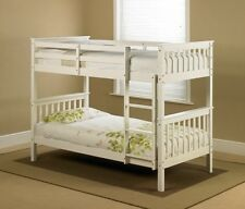 3FT White Single Shaker Wooden Wood Bed Frame Bedstead - Bunk Bed