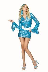 1970S 60'S 70'S DISCO FEVER SEQUIN DRESS HIPPIE RETRO GO GO GIRL WOMAN COSTUMES