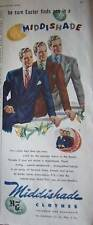 1948 MIDDISHADE Men's Easter Suit Clothes Ad