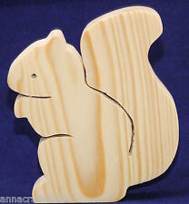 SQUIRREL- wooden shape Other animals available-Real pine wood-Hand made-  (N)