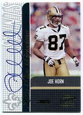 2001 Stadium Club JOE HORN Lone Star Signature On-Card Auto Rare Saints SP