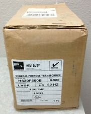 EGS SOLA HEVI DUTY HS20F500B .500 KVA 120/240V-16/32V TRANSFORMER *NEW-IN-BOX*