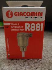 """Giacomini R88I automatischer Schwimmerentlüfter Schnellentlüfter 3/8"""" R88IY002"""