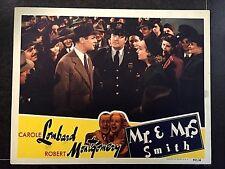 HITCHCOCK'S MR & MRS SMITH 1941 ORIGINAL LOBBY CARD-CAROLE LOMBARD, MONTGOMERY