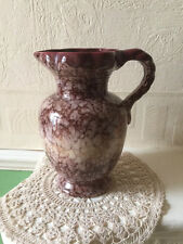Antique Pottery Jug Drip Glaze Mould Number  556/20 German 1930s