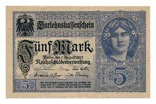 GERMANY banknote 5 Mark 1917 VF+