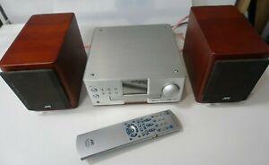 JVC EX-A1 Compact DVD Hi-Fi Bookshelf System & SP-EXA1 Wood Cone Speakers