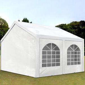 Partyzelt Pavillon 4x4m Bierzelt Festzelt Gartenzelt Vereinszelt Markt Zelt weiß