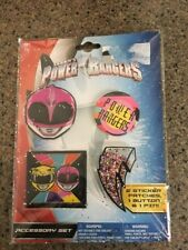 Power Rangers ACCESSORY SET 2 sticker patches,1button,and 1 pin