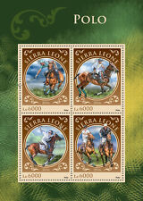 Sierra Leone 2016 MNH Polo 4v M/S Horses Equastrian Sports Stamps