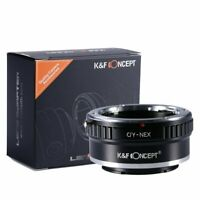 K&F Lens Mount Adapter for Contax Zeiss C/Y Lens to Sony E-Mount NEX Camera