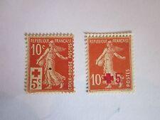 France 1914 Lot de 2 semeuses de Roty n°s 146 et 147 Y&T Neuf ** / * côte 56,40€