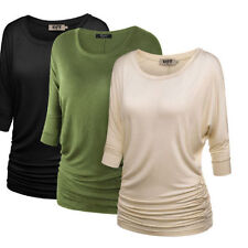 3/4 Sleeve Unbranded Regular Solid Tops & Blouses for Women