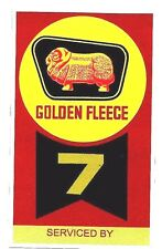 GOLDEN FLEECE Service Ticket PROMO STICKER DECAL PETROL OIL GAS SERVICE STATION