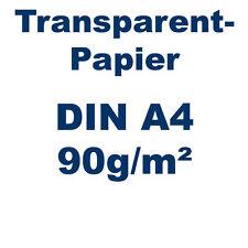 50 Blatt Transparentpapier DIN A4  90g weiß 210x297mm Pergamentapier bedruckbar