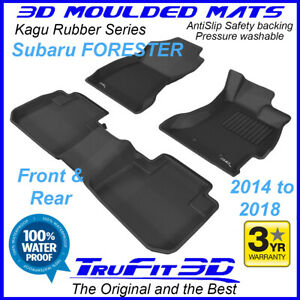 Fits Subaru Forester 2014 - 2018 SJ - 3D Moulded Rubber Car  Floor Mats