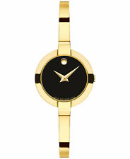 Movado Bela Gold PVD Stainless Steel Bangle Bracelet Watch 25mm 0606999