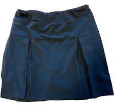 Lands End Girls Size Large 14 Navy School Uniform Pleated Knit Below Knee Skirt