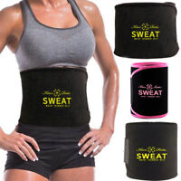 Women's Sweat Neoprene Waist Trainer Body Shaper Slimming Belt Lumbar Support US