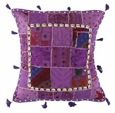 "16"" Cotton Cushion Cover Indian Patchwork Bohemian Decor Ethnic Throw Pillow"