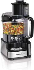Hamilton Beach 12-Cup Stack & Snap Food Processor & Vegetable Chopper, Black