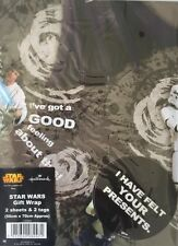 STAR WARS WRAPPING PAPER HALLMARK 2 GIFTWRAP 2 TAG PACK BIRTHDAY 11519035