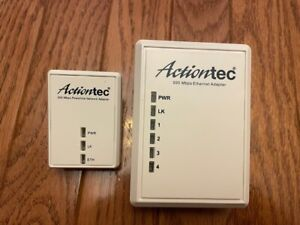ActionTec Powerline Network Adaptor Kit w/ 4 Ports Up to 500 MBPS PWR514K01