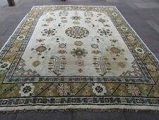 Vintage Shabby Chic Hand Made Traditional Oriental Wool White Carpet 350x280cm