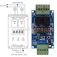Dual Programmable Relay Control Board Delay Timer Clock Switch Module Vlc30 12v