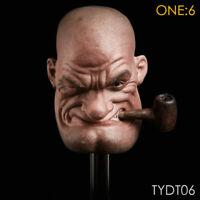 1/6 Scale Popeye Sailor Head Sculpt Popeye Head Sculpt F 12'' PH Muscle Body Toy