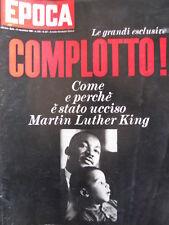 EPOCA n°947 1968 Come e perchè è stato ucciso Martin Luther King [C80]