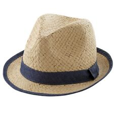 Mud Pie E8 Easter Summer Toddler 2T-5T Baby Boy Straw Fedora Hat 1502300