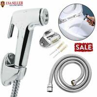 Handheld Stainless Steel Bidet Spray Shower Head Toilet Shattaf Adapter Hose Kit